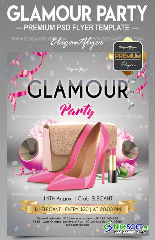 Glamour party V7 2018 Flyer PSD Template