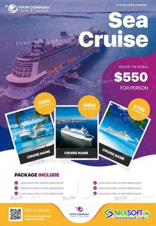 Sea Cruise V4 2018 PSD Flyer Template