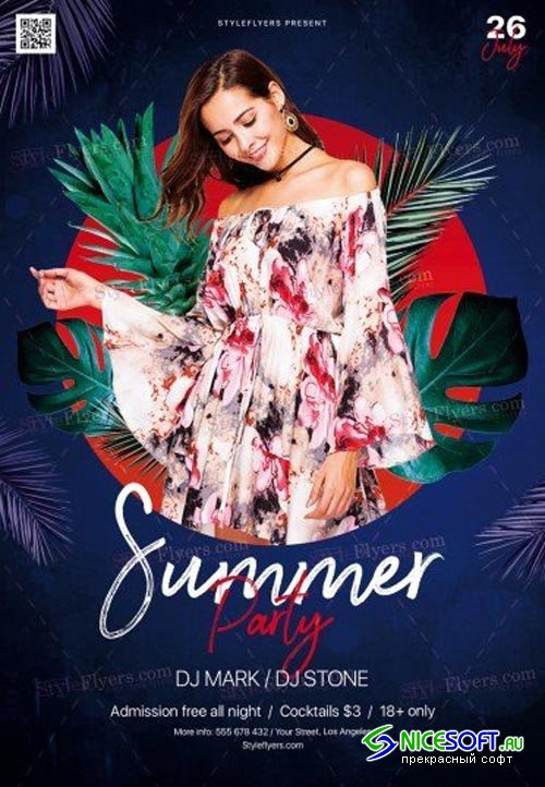 Summer V15 2018 PSD Flyer Template