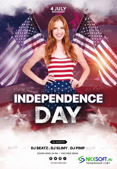 Independence Day V23 2018 PSD Flyer Template