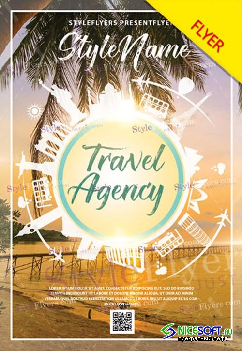 Travel Agency V9 2018 Flyer PSD