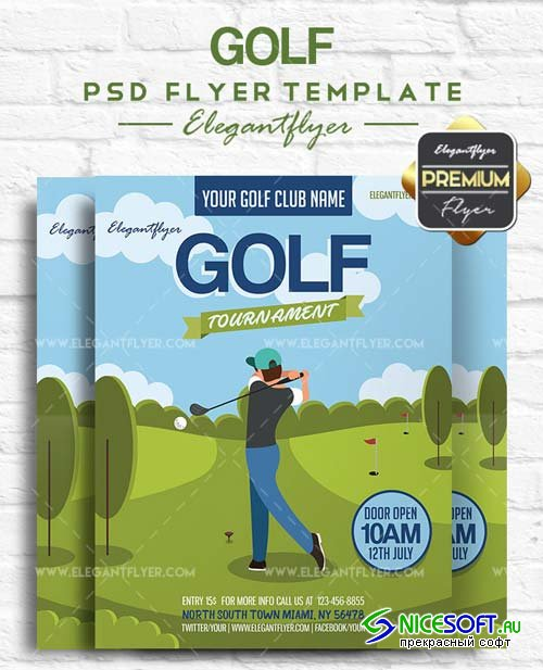 Golf V3 2018 Flyer PSD Template