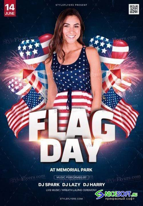 Flag Day V5 2018 PSD Flyer Template