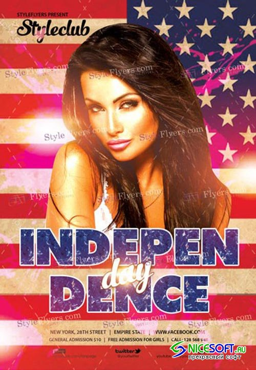 Independence Day V17 2018 PSD Flyer Template