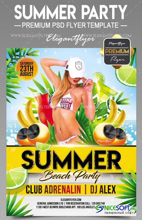 Summer Party V21 2018 Flyer PSD Template
