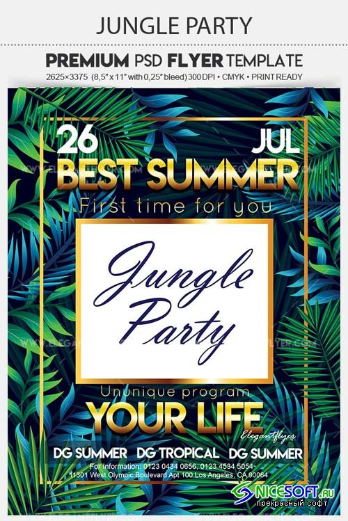 Jungle Party V7 2018 Flyer PSD Template