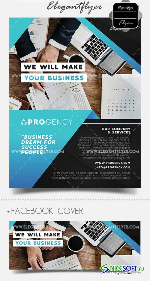 Business Company V18 2018 Flyer PSD Template