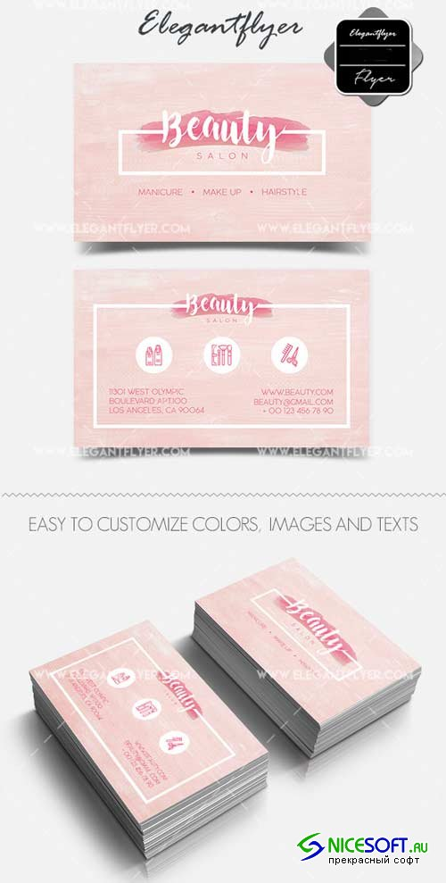 Beauty Salon V4 2018 Business Card