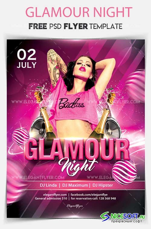 Glamour Night V5 2018 Flyer PSD Template