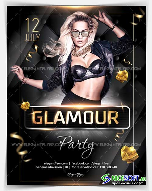 Glamour Party V18 2018 Flyer PSD Template