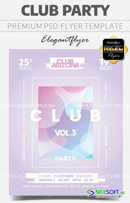 Club Party V18 2018 Flyer PSD Template + Facebook Cover