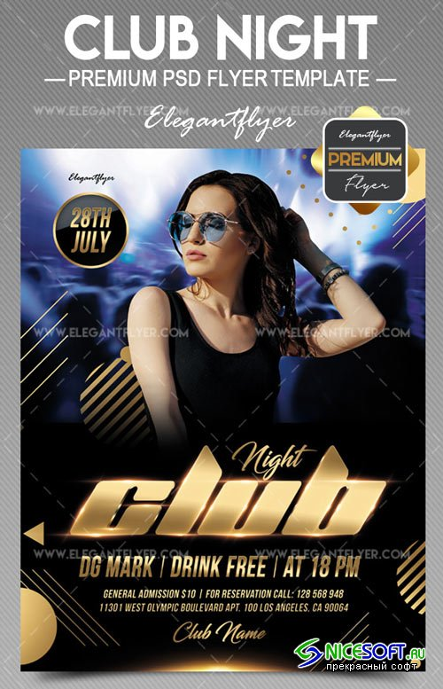 Club Night V31 2018 Flyer PSD Template