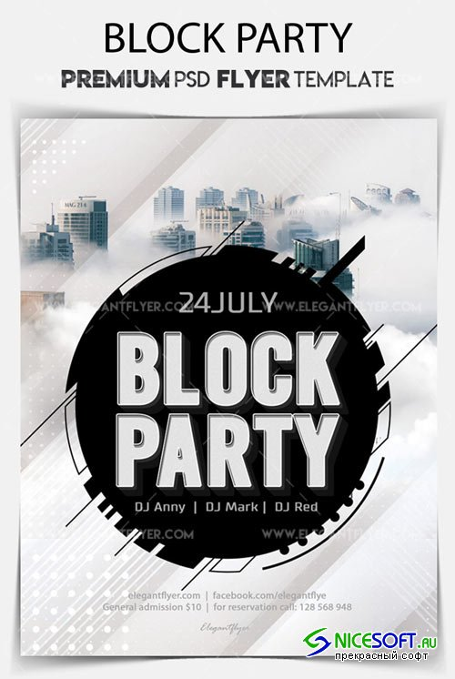 Block Party V2 2018 Flyer PSD Template