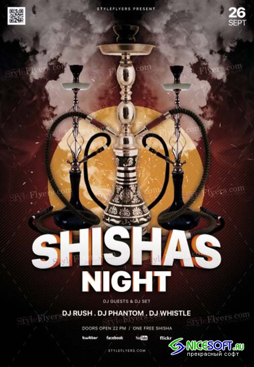 Shishas Night V1 2018 PSD Flyer Template
