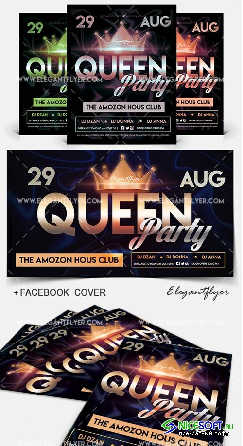 Queen Party V5 2018 Flyer PSD Template