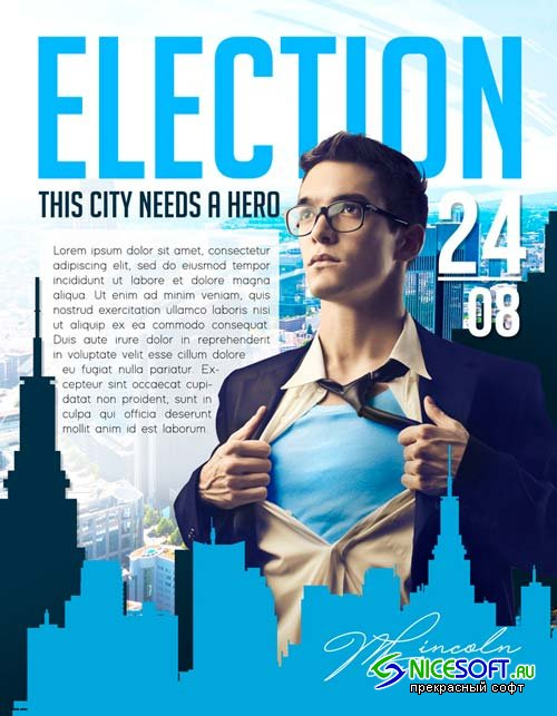 Election flyer V17 2018 Flyer PSD Template