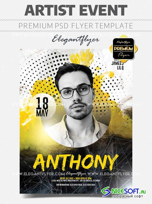 Artist Event V12 2018 Flyer PSD Template
