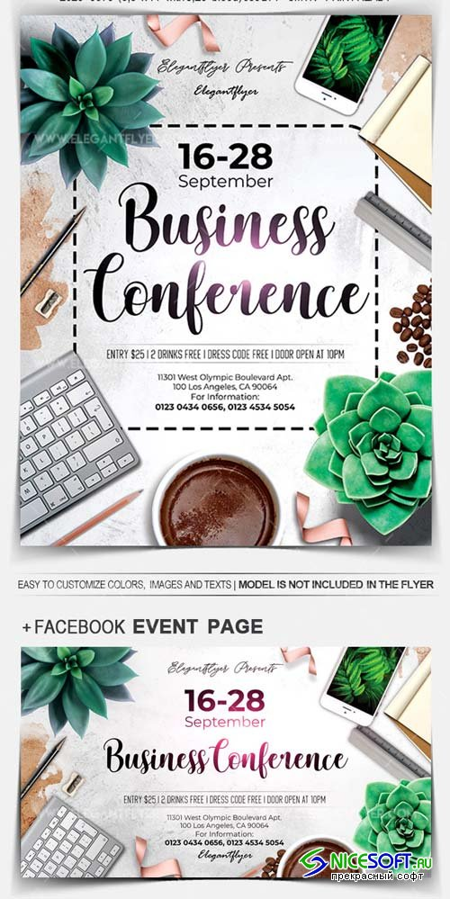 Business Conference V17 2018 Flyer PSD Template