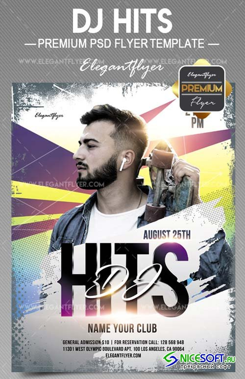Dj Hits V11 2018 Flyer PSD Template