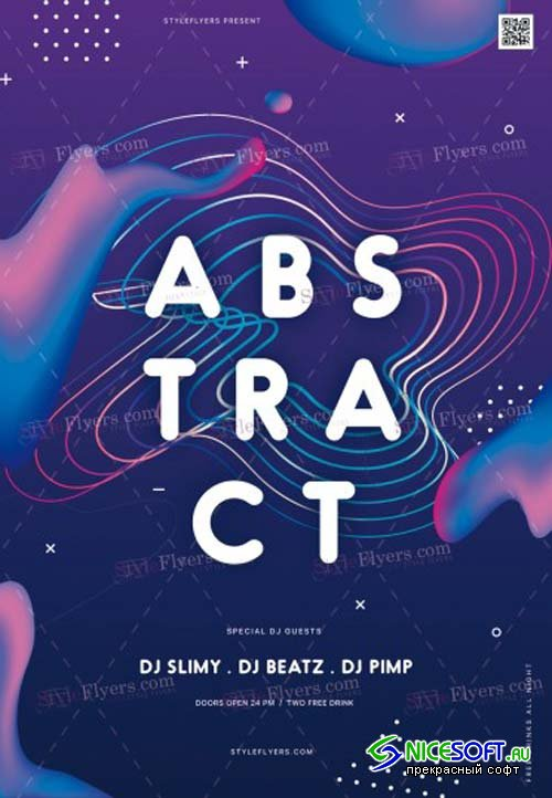 Abstract V17 2018 PSD Flyer Template