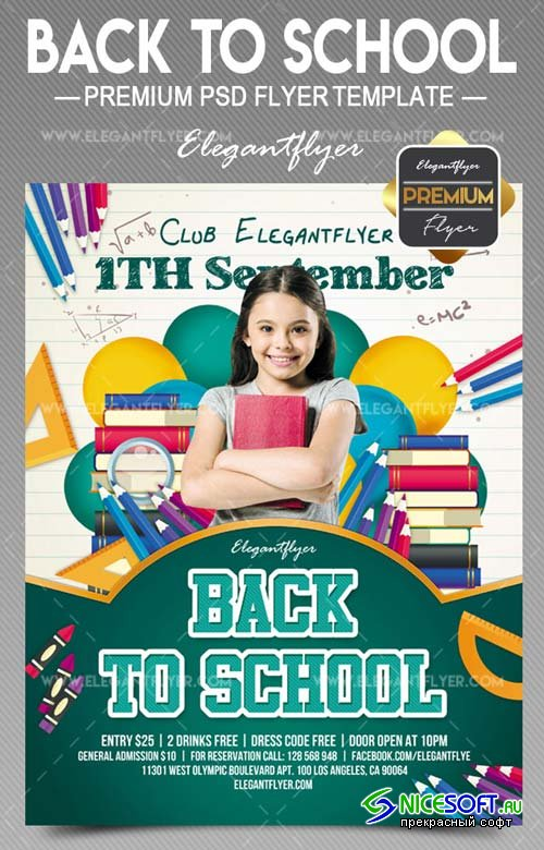 Back to School V9 2018 Flyer PSD Template