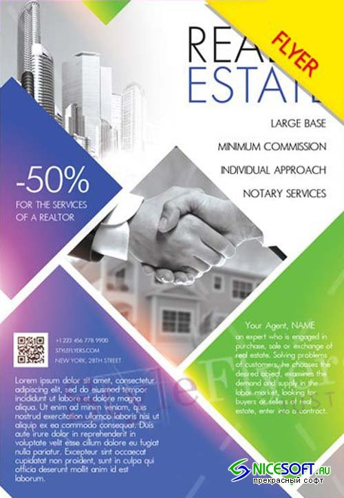 Real Estate V18 2018 Flyer PSD