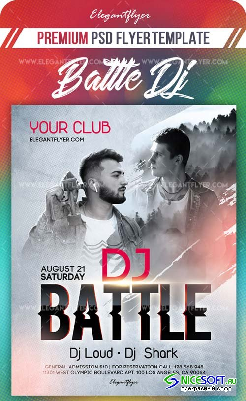 Battle Dj V11 2018 Flyer PSD Template