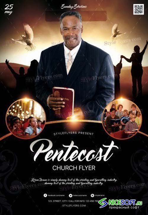 Pentecost Church V20 2018 PSD Flyer Template
