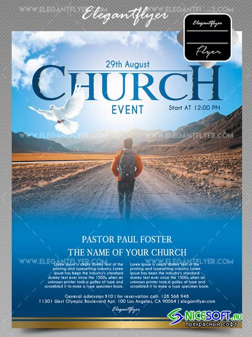 Church Event V28 2018 Flyer PSD Template