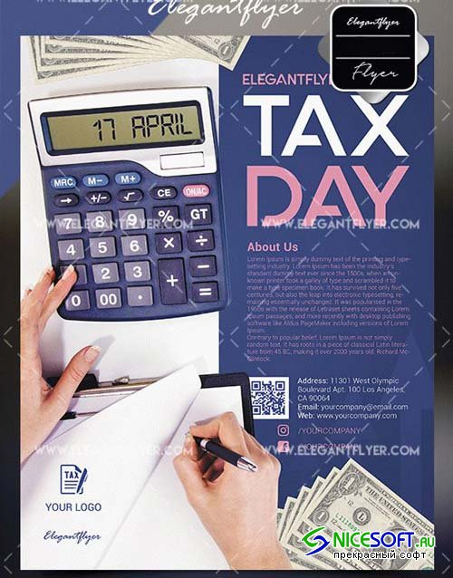 Tax Day V1 2018 Flyer Template