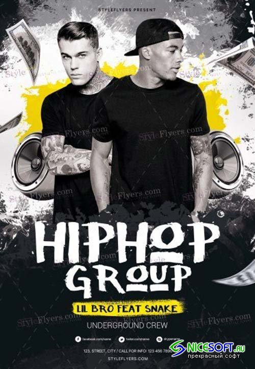 Hip Hop Group V1 2018 PSD Flyer Template