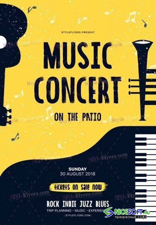 Music Concert V19 2018 PSD Flyer Template