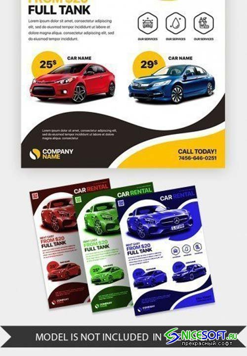 Car Rental V5 2018 PSD Flyer Template