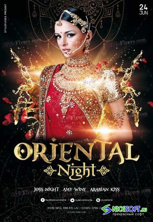 Oriental Night V5 2018 PSD Flyer Template