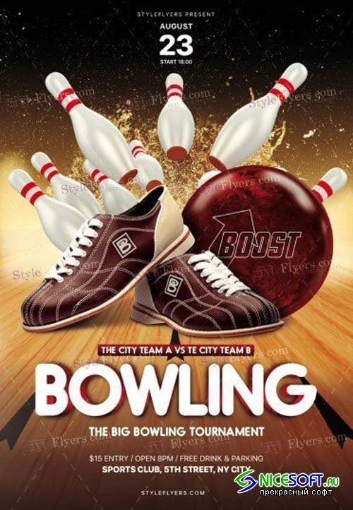 Bowling V17 2018 PSD Flyer Template