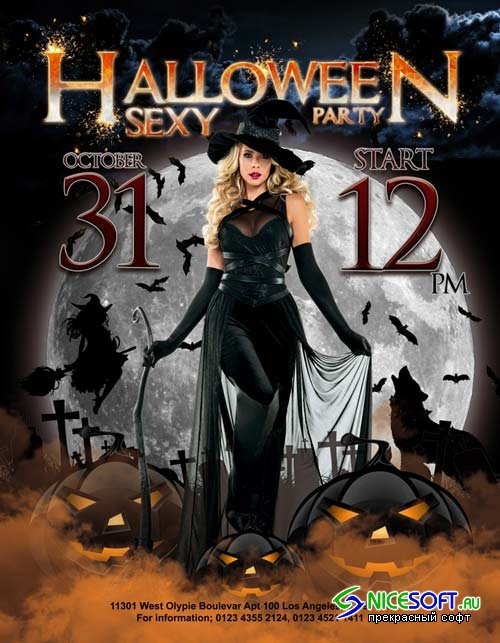 Halloween sexy party V1 2018 Flyer Template