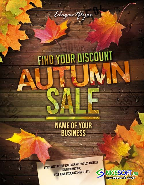 Autumn sale V5 2018 Flyer PSD Template