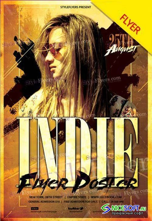 Indie V7 2018 Flyer PSD Template