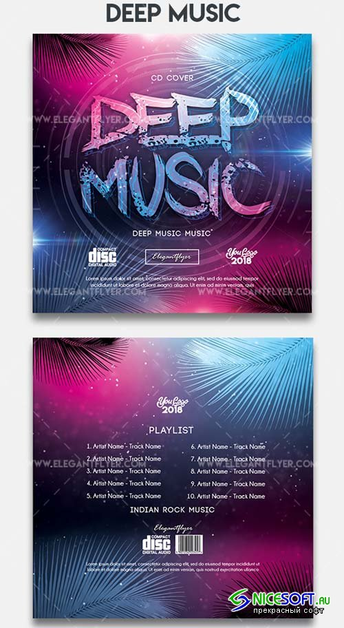 Deep Music V7 2018 CD Cover Template