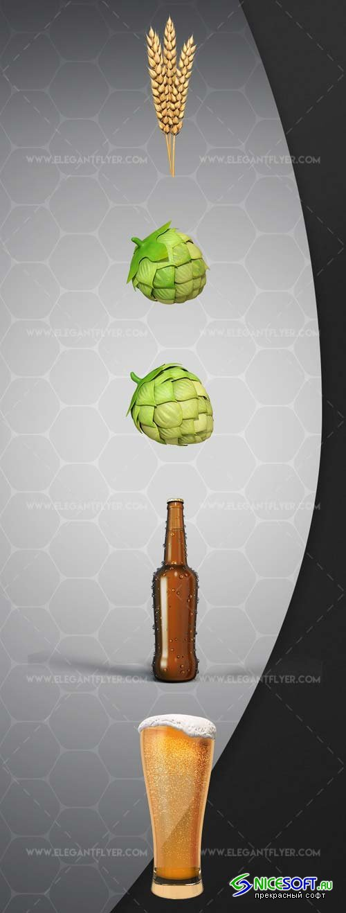 Beer Set V1 2018 3d Render Templates
