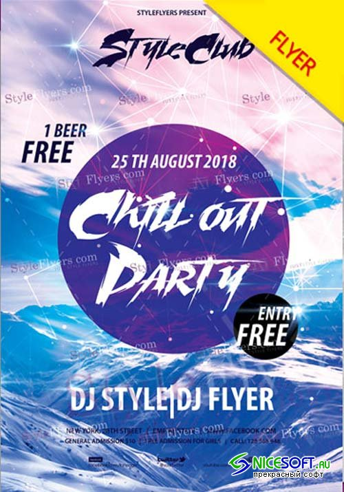 Chillout Party V11 2018 PSD Flyer Template
