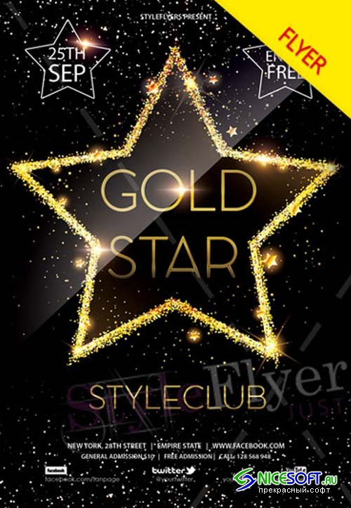Gold Star V1 2018 PSD Flyer Template