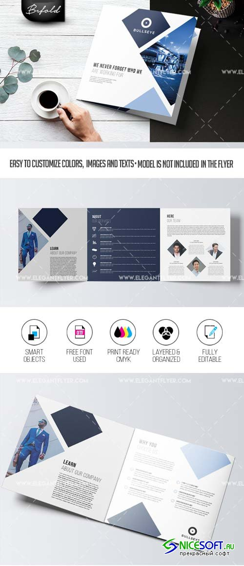 Business V46 2018 Tri-Fold Brochure PSD Template