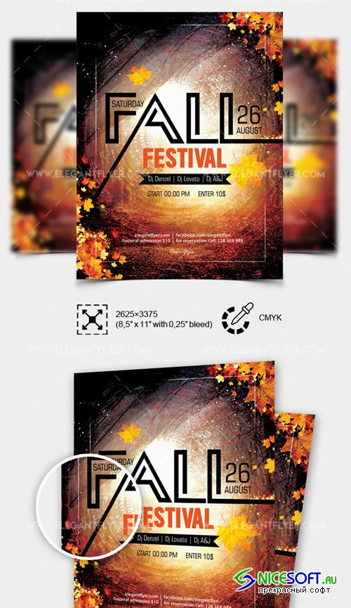 Fall Festival V10 2018 Flyer PSD Template