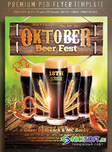 Oktober Beer Fest V1 2018 Flyer PSD Template