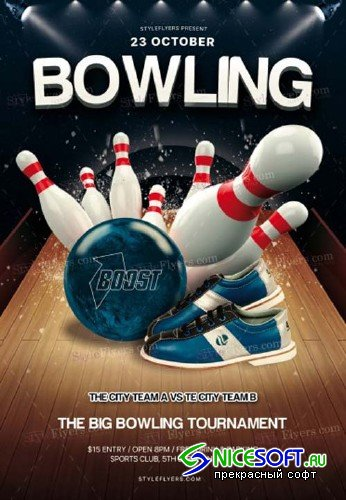 Bowling V15 2018 PSD Flyer Template