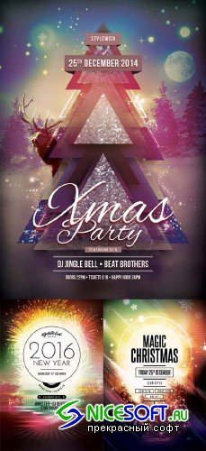 Christmas Flyer V17 3in1 Flyer Template
