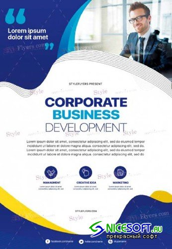 Corporate V38 2018 PSD Flyer Template
