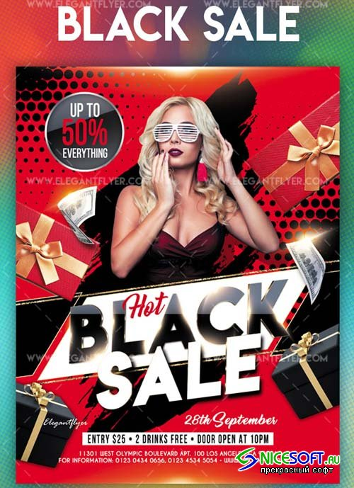 Black Sale V11 2018 Flyer PSD Template
