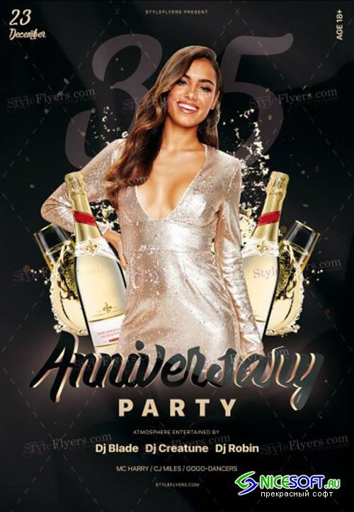 Anniversary Party V28 2018 PSD Flyer Template